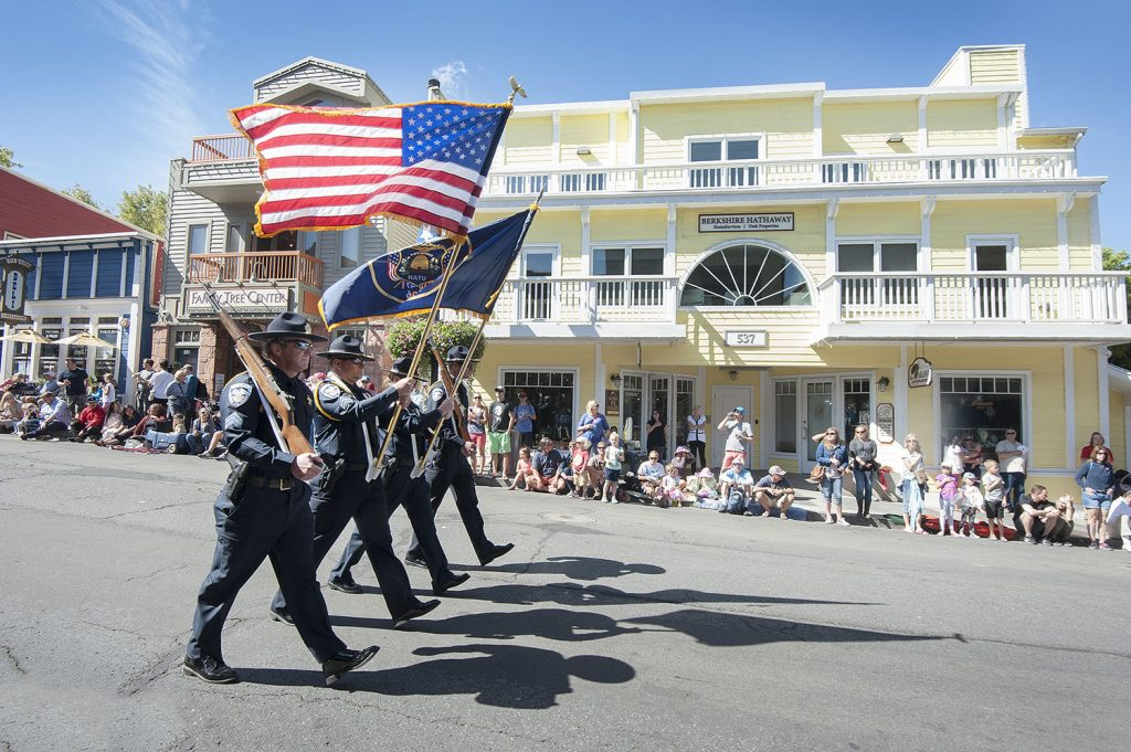 Summit County Sheriff's Honor Guard at Park City Miners' Day 2016. (Tom Kelly)